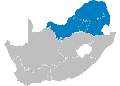Bible Society Of South Africa Regions - South africa regional map